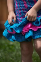 #Crochet Ruffled Skirt