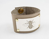 Bee Leather Cuff